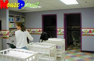 Diaper changing area.
