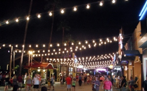 Downtown Disney at night.  I've been working the 12pm - Midnight shift!