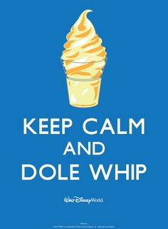Can't be rushed when eating a Dole Whip Float!