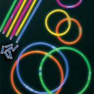 Glow necklaces in every color light up the night!