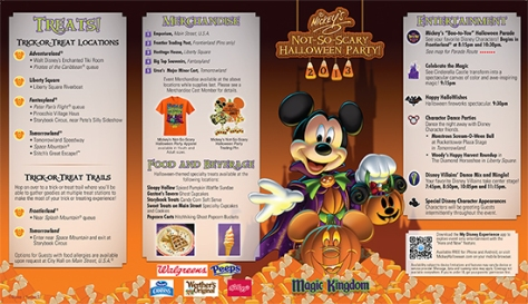 Mickey's Not So Scary Party Map