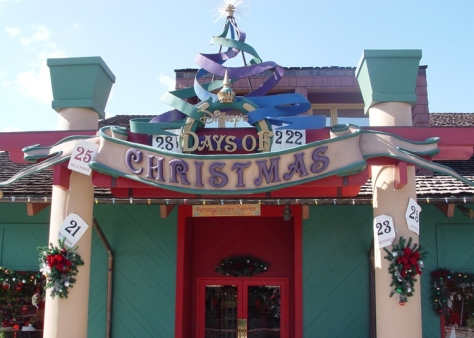 Days of Christmas store.  Smells like candy canes inside!