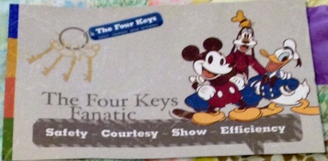 Front of Four Keys card.