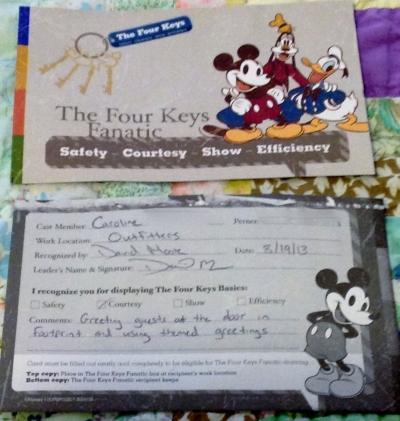 The Four Keys card.