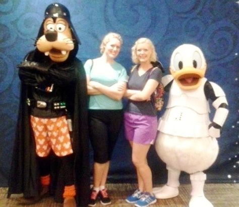 With Darth Vader Goofy & Storm Trooper Donald.