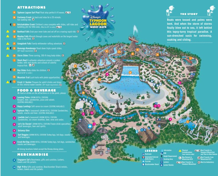 Typhoon Lagoon map showing Lazy River.