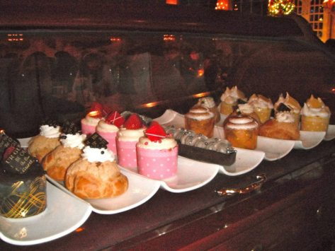 Dessert cart.  Try the 'Grey Stuff', it's delicious!!  (Chocolate cream moouse!)