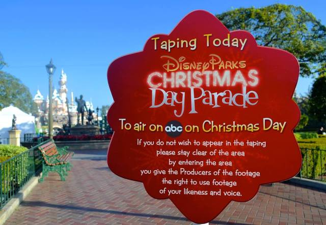 Disney Christmas Day Parade Taping Schedule!