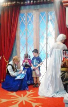 Waiting to meet the Frozen princesses.