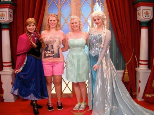 A photo of us at the 'Frozen' meet & greet in EPCOT-Norway a few weeks ago.
