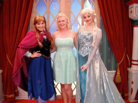 Me with Anna and Elsa.