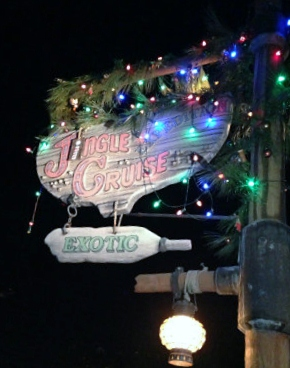 First time we've done the Jungle Cruise at night!  Of course, for the holidays, it's the Jingle Cruise!