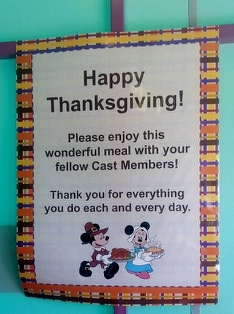 Thanksgiving note from the managers.