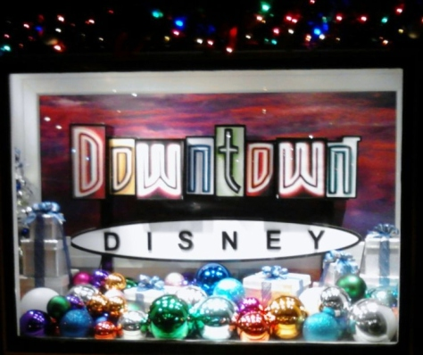 Downtown DIsney Christmas display.  So pretty!