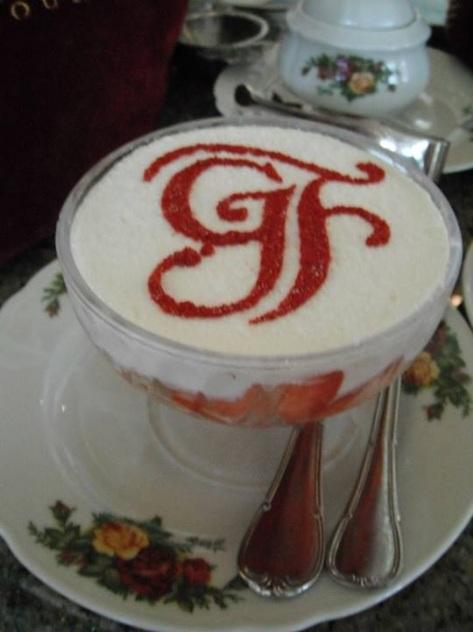 Strawberries and cream.  Wonderful!!