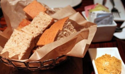 Dabo bread with spiced butter.