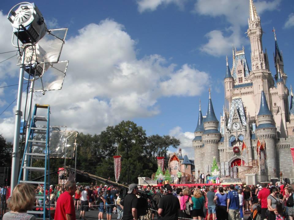 Taping the Disney Christmas Day Parade at Magic Kingdom