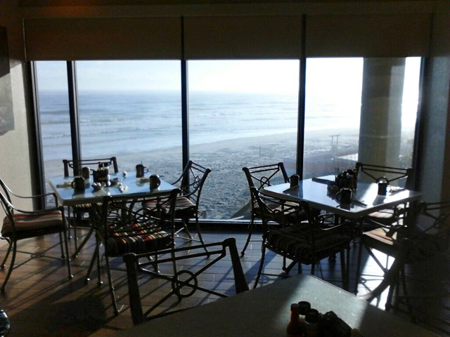 Because of hurricanes, the hotel's restaurant is on the 2nd floor.  Lovely views!