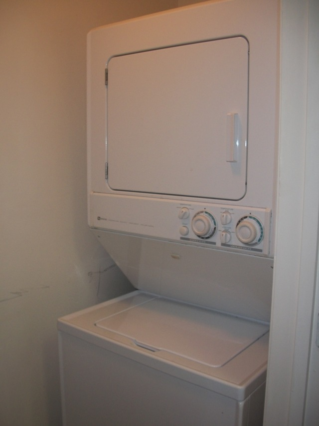 Washer and dryer right off the kitchen. No more trips to the common laundry room!!