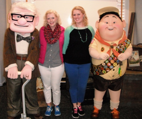 Meeting Mr. Fredrickson and Russel from the movie Up! ahhh!!!