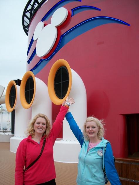 Ship's horns playing Disney tunes.
