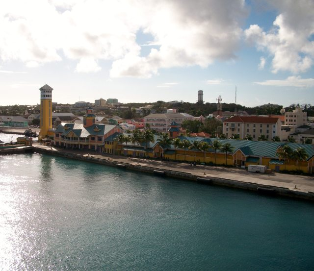 View from our Balcony:  Nassau, Bahamas.