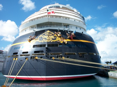 The Disney Dream docked.