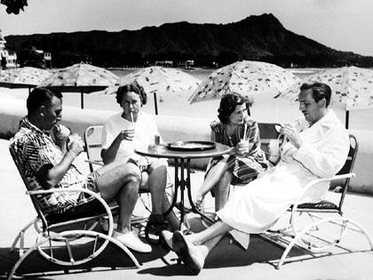 Walt and Lillian Disney in Hawaii, 1930s.