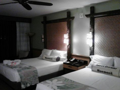 Our beautiful hotel room.