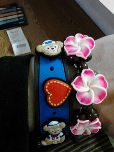Hawaiian flower Band-Its for my MagicBand.