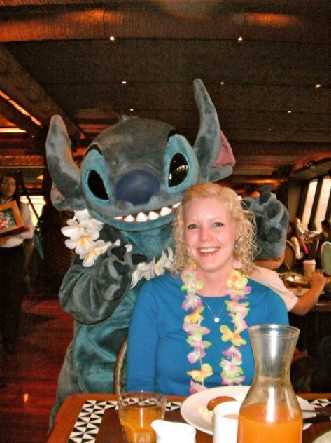 Having fun with Stitch.
