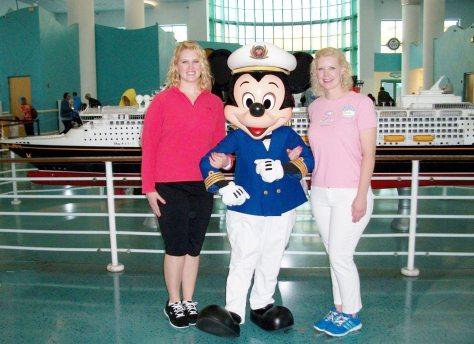 Ready to set sail with Captain Mickey aboard the Disney Dream.