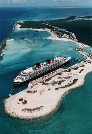 Castaway Cay from the air.