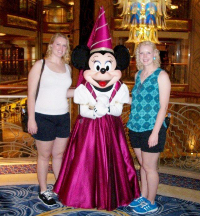 With Princess Minnie