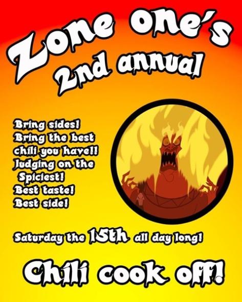 Zone 1 Chili Cook-off.