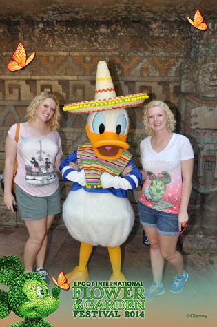 With Donald.