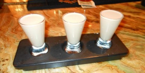 Our Creme de Tequila shots.
