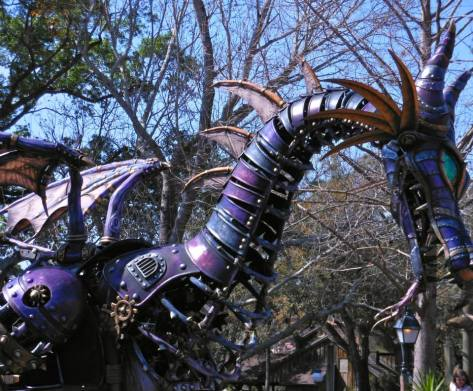 The fire breathing dragon from Sleeping Beauty.