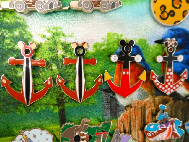 DCL exclusive pins:  Mickey, Minnie, Chip & Dale pins.