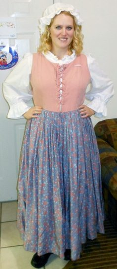 Colonial costume for Yankee Trader.