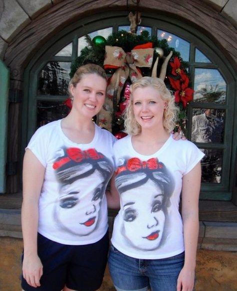 Snow White tee shirts from the Grand Floridian.