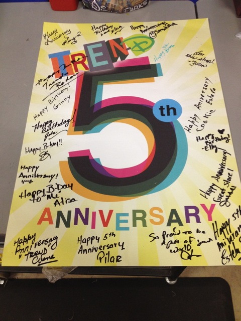5th Anniversary Party at Tren-D!