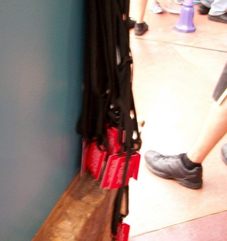 Red Lanyards at Certain Rides