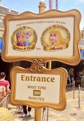 Five hour wait to see Anna & Elsa at 10am!