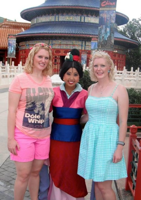Mulan is one of the nicest characters at Epcot!