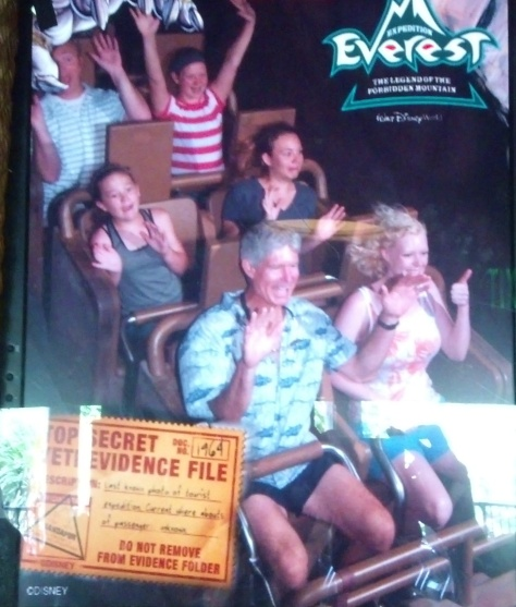 Expedition Everest with our dad.