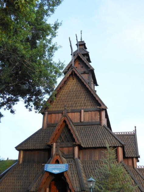 Recreated Stave church style for gallery.
