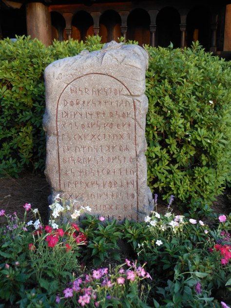 Rune stone out front.