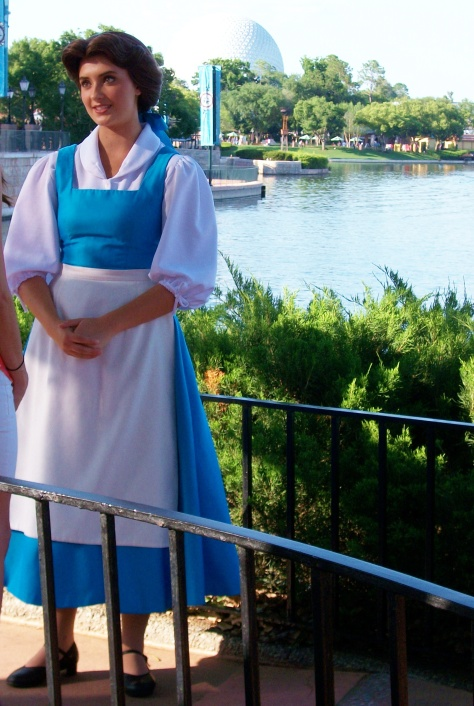 We like Belle's Epcot costume...it certainly is much cooler for her to wear when the Florida temps climb into the mid-90s!