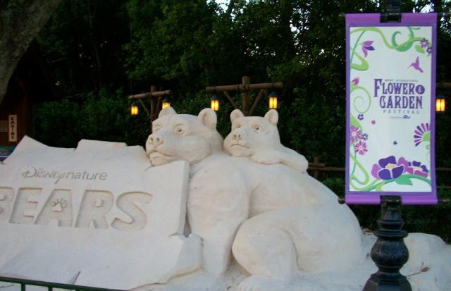 This Bears sand sculpture was 10 feet long!
